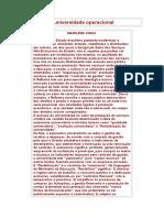 A Universidade Operacional  - Marilena Chauí.doc