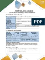 Guía de actividades y rúbrica de evaluación – Fase 3 Convergencias y diferencias socioculturales