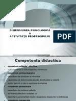 Curs 2 PE Competenta Didactica. Tipuri de Putere