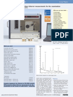 Diffractometric Debye-Scherrer Measurements for the Examination