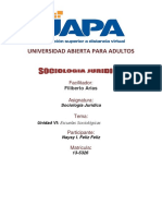320868781 Tarea 6 Unidad VI Sociologia Juridica UAPA