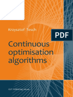 K. Tesch - Continuous optimisation algorithms