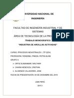 Procesos Industriales I-Arcillas Activadas