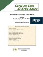 Corso on Line Di Psicosintesi Della Coscienza