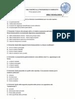 FARMACISTA - Prova Scritta a Quiz 1-2016