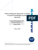 1&2. Jones 2009 Policy-making as Discourse - A Review of Recent Knowledge-To-policy