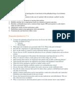 Preparation Questions for CVA
