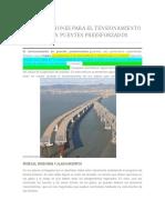 Consideraciones Para El Tensionamiento de Cables en Puentes Preesforzados