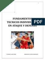 FUNDAMENTOS TECNICOS BALONCESTO