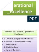 Operational Excellence Operational Excellence