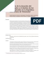 Análisis de La Duración Del Desempleo y El Destino de Los Desempleados en Venezuela