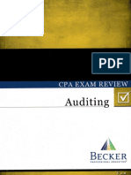 CPA Becker Auditing Exam Review 2014