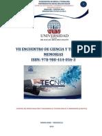 Extensos VII Encuentro de Ciencias y Tecnología