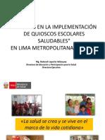 Formación de Gestores en La Promoción de Quioscos Escolares Saludables.