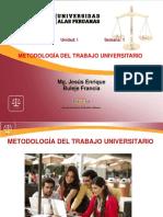 Metodologia Trabajo Universitario 4 Semanas