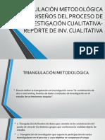 Triangulación de Recolección de Datos-Diseños Del Proceso de Investigación Cualitativa