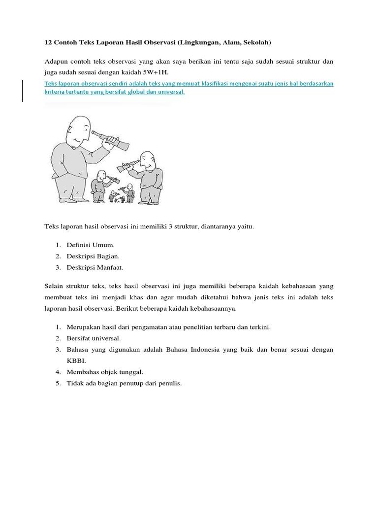 Struktur Teks Laporan Hasil Observasi Tentang Kelinci