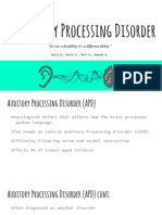 10-17-16 exceptionalities presentation - auditory processing disorder