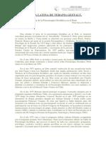 Historia de La Psicoterapia Gestaltica