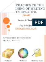 WRITING 1 Approaches to the Teaching of Writing 12.JR