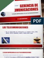 Gerencia de Telecomunicaciones - El Valor Empresarial de Las Telecomunicaciones - POR ABEL SALAZARC