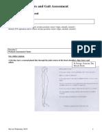 T Posture Gait Assessment 2015