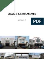 Modul 7 Emplasemen & Stasiun