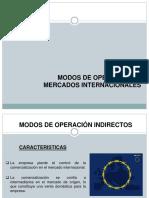 Modos de Operaciòn en Mercados Inales.