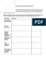 stakeholder worksheet- fracking