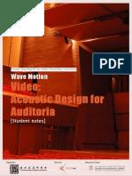 SCI04_Acoustic Design for Auditorium_Student Notes