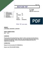 Rt22-684 Dishwasher 501 Fe Error