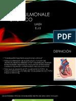 "Cor Pulmonale ""Cardiopatía hipertensiva pulmonar crónica"""