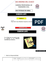 Sesion x. Checklist 2017.