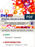 School Rules & Regulation PNHS