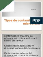 TEMA 4.- Tipos de Contaminación Microbiana