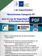 Tema 13 - Seguridad en Las Instalaciones Eléctricas.ppt