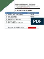 Hasil Interview p Jamil