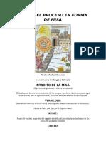 Adan o El Proceso en Forma de Misa