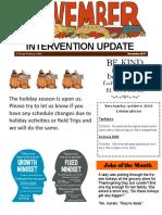 intervention newsletter- november 2017