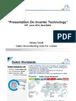 Mr Sanjay Goyal Daikin Presentation on Improving Ac Efficiency