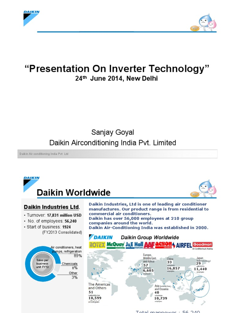 Mr Sanjay Goyal Daikin Presentation on Improving Ac