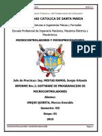 Trabajo Informe 1 SOFTWARE DE PROGRAMACION DE MICROCONTROLADORES UCSM