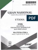 Soal UN SMK 2014-2015 Matematika Kel. Teknologi A
