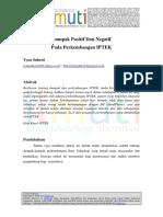 Tyan Suhesti Dampak Positif Dan Negatif Pada Perkembangan IPTEK