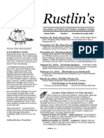 Nov-Dec 2003 Rustlin's Newsletter Prairie and Timbers Audubon Society