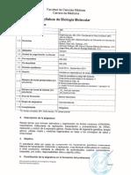 306 Syllabus de Biologia Molecular