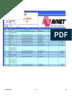 Avnet S6LX16 Evl BOM RevB 091214 Preliminary
