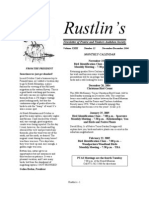 Nov-Dec 2004 Rustlin's Newsletter Prairie and Timbers Audubon Society