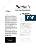 May 2005 Rustlin's Newsletter Prairie and Timbers Audubon Society
