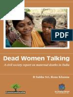 Dead Women Talking Full Report Final